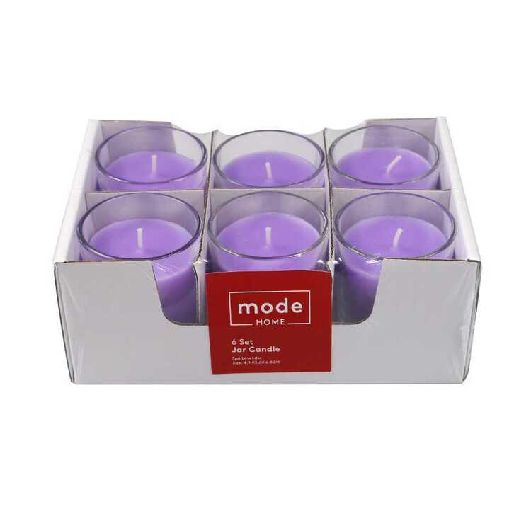 Mode Spa Lavender Set Of 6 Candle Jar