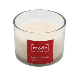 Mode Vanilla 3 Wick Candle Jar