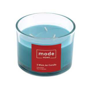 Mode Ocean Breeze 3 Wick Scented Candle Jar
