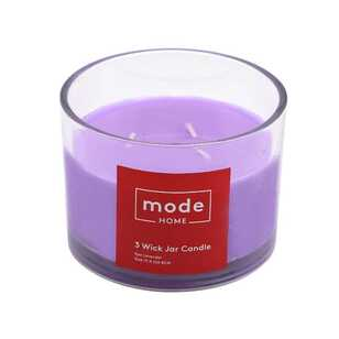 Mode Lavender 3 Wick Scented Candle Jar