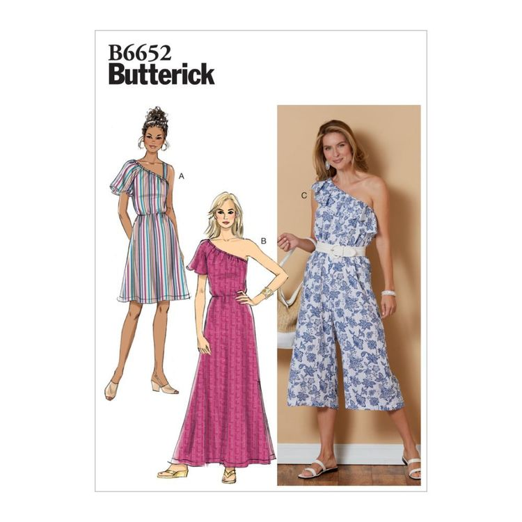 Butterick Pattern B6652 Misses' Dress and Jumpsuit