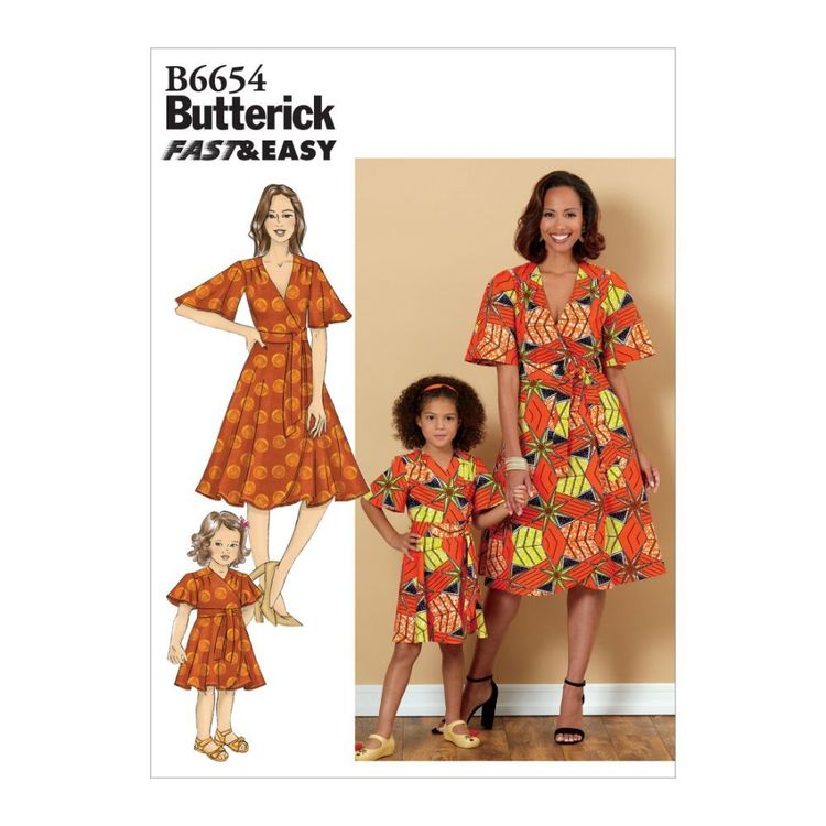 Butterick Pattern B6654 Misses', Children's and Girl's Dress and Sash