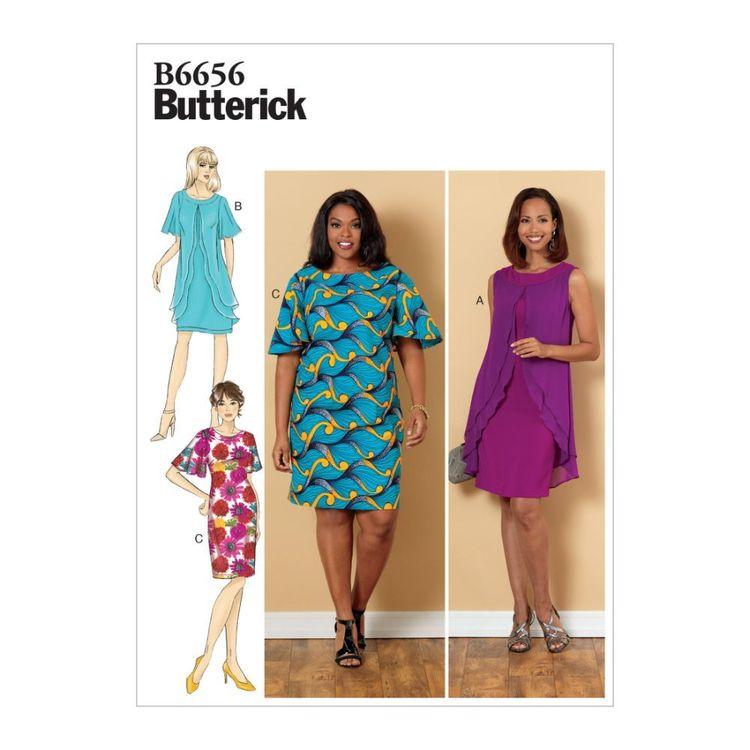 Butterick Pattern B6656 Misses'/Misses' Petite/Women's/Women's Petite Dress