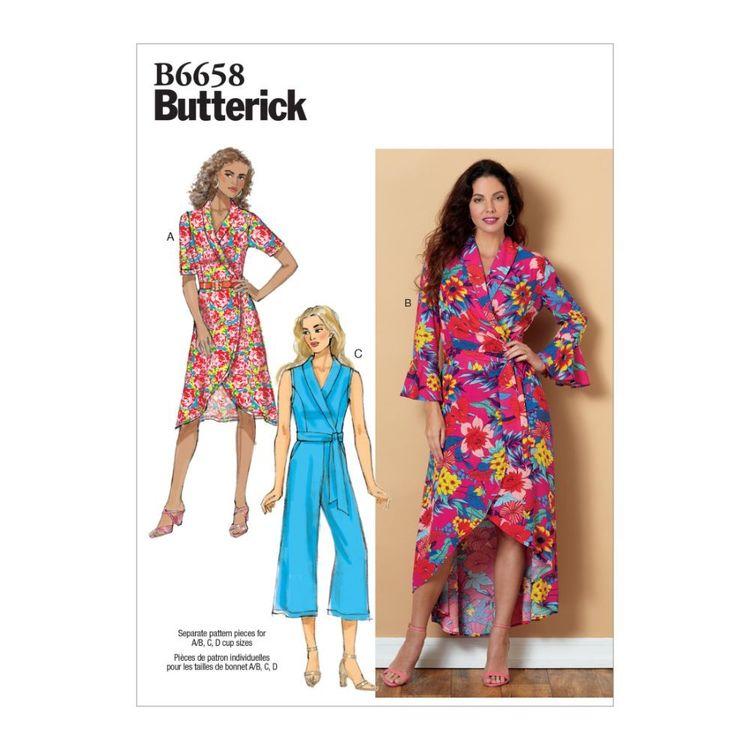 Butterick Pattern B6658 Misses' Dress, Jumpsuit and Sash