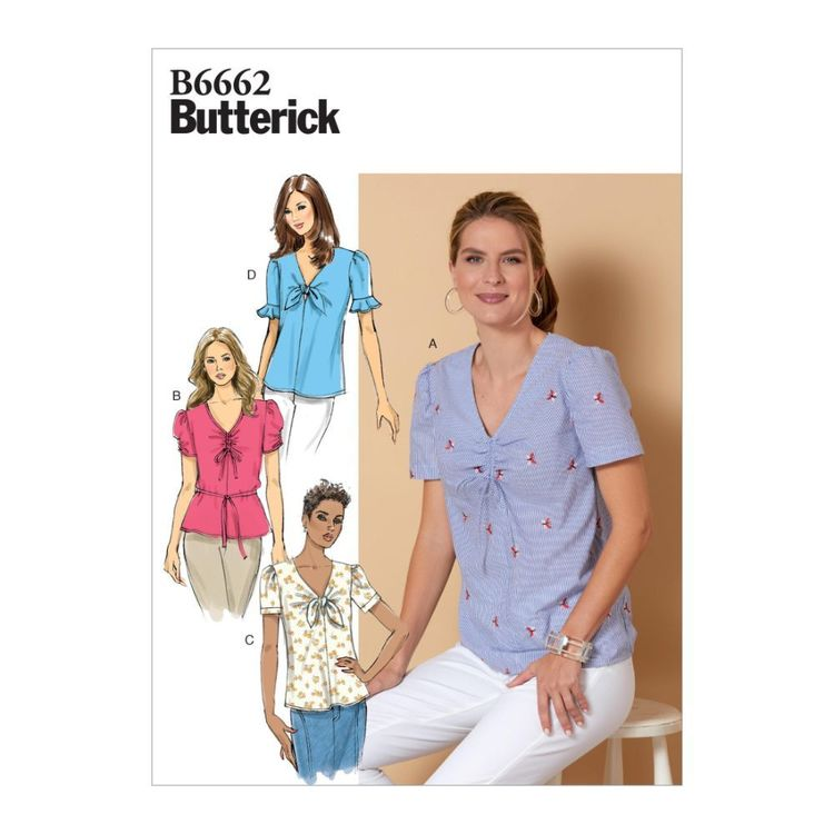 Butterick Pattern B6662 Misses' Top and Tie