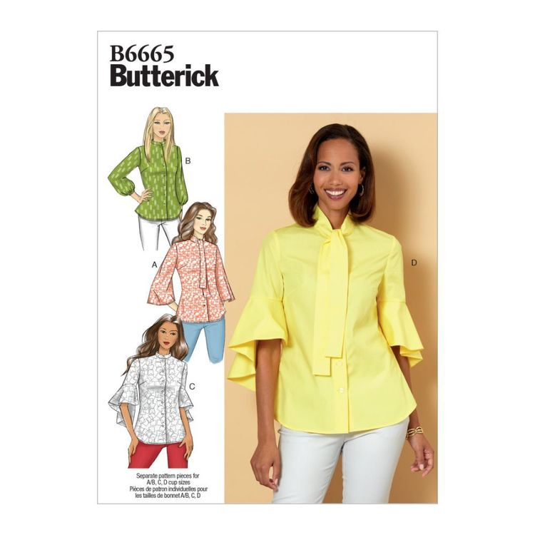 Butterick Pattern B6665 Misses' Top