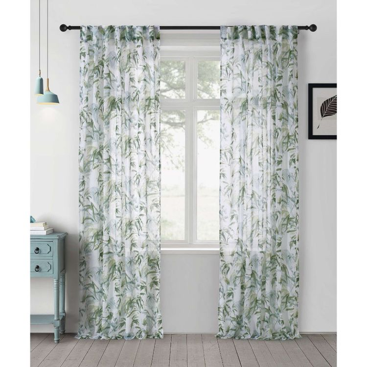 KOO Botanical Oriental Concealed Tab Top Curtains