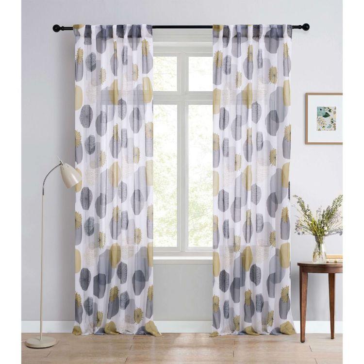 KOO Botanical Scandi Floral Concealed Tab Top Curtains