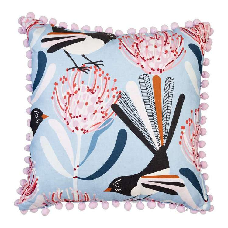 Koo Jocelyn Proust Willy Printed Cushion Blue 45 x 45 cm