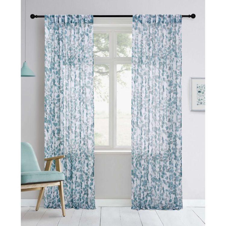 KOO Botanical Eucalyptus Concealed Tab Top Curtains