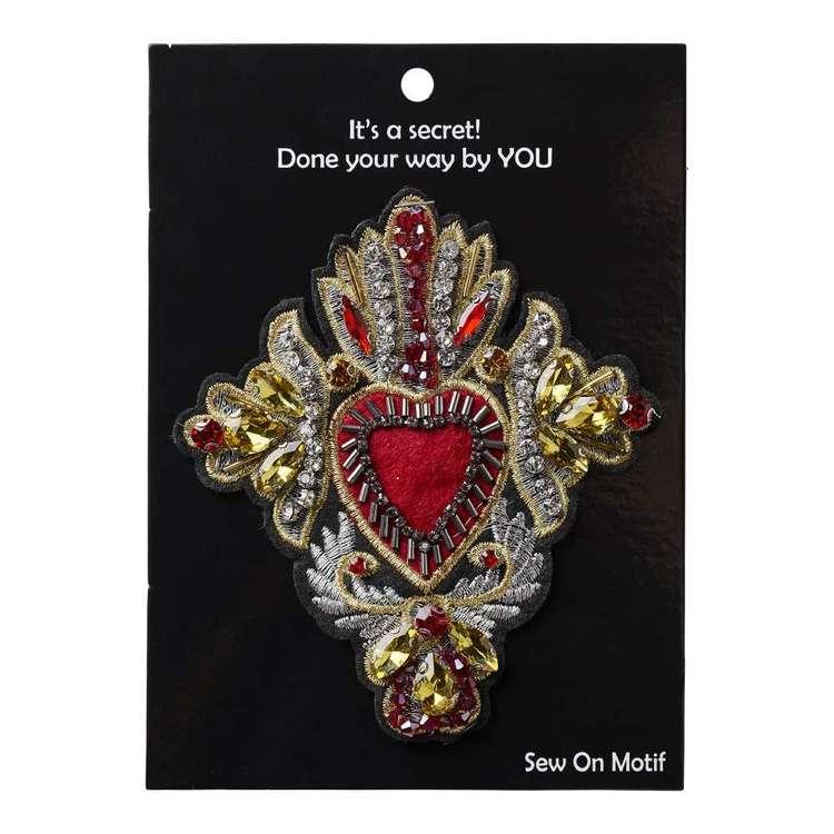 Regal Heart Sew On Motif