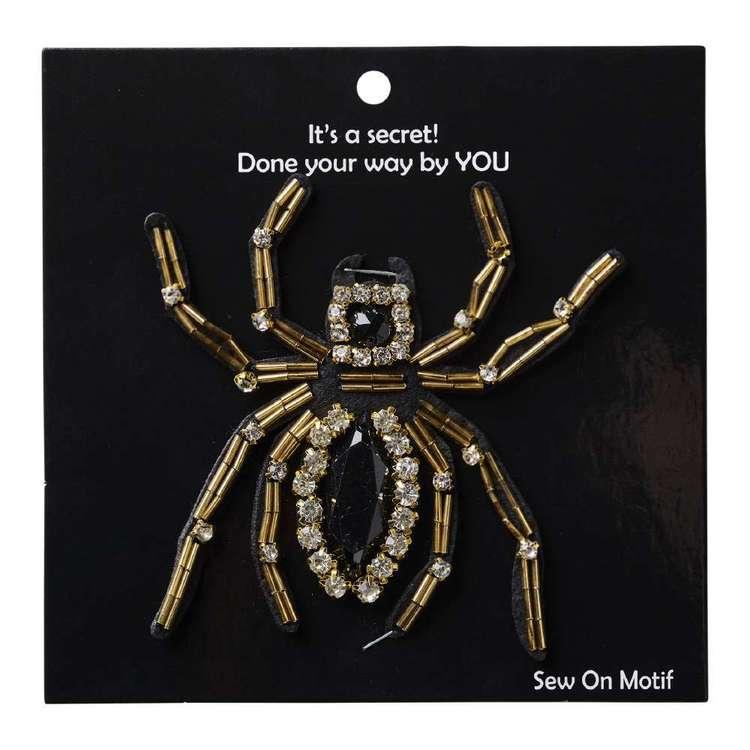 Beaded Spider Sew On Motif