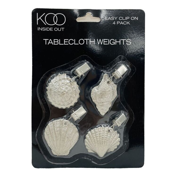 KOO Inside Out 4 Pack Shell Tablecloth Weights