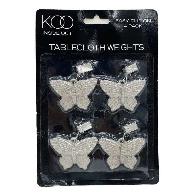 Koo Inside Out Butterfly Table Cloth Weight 4 Pack