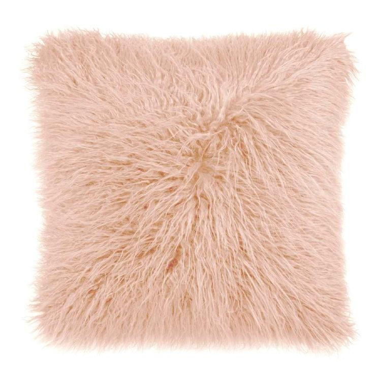 Bouclair Fall Blush Faux Fur Cushion