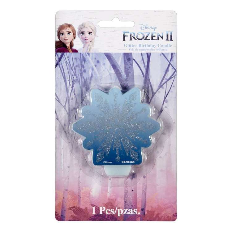 Frozen 2 Glitter & Decal Candle Multicoloured