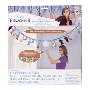 Frozen 2 Jumbo Add-An-Age Letter Banner