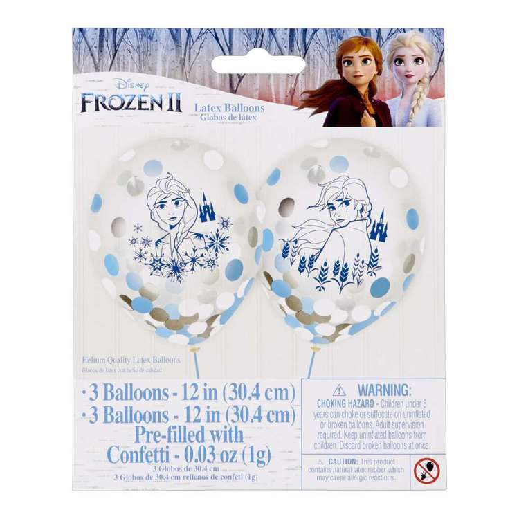 Frozen 2 Latex Confetti Balloon 6 Pack