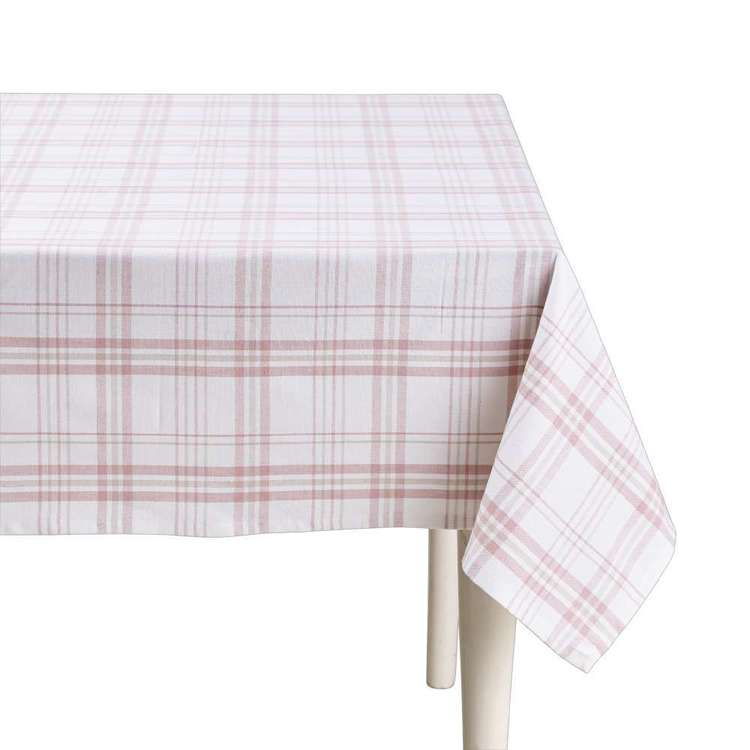 Living Space Finn Check Table Cloth Pink
