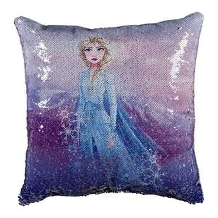 Frozen 2 Anna & Elsa Reversible Cushion