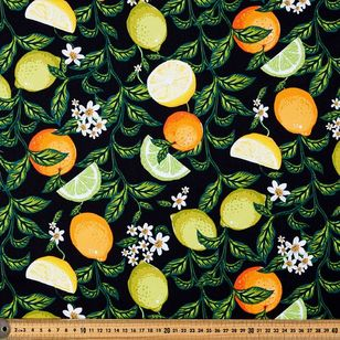 Forest Garden Printed Montreaux Drill Fabric