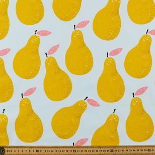 Golden Pear Printed Cotton Poplin Fabric