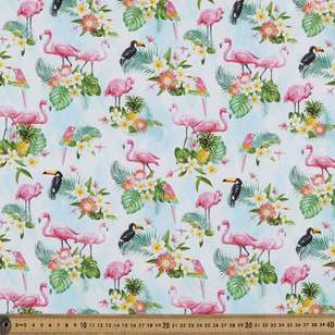 Tropical Oasis Digital Printed Cotton Poplin Fabric