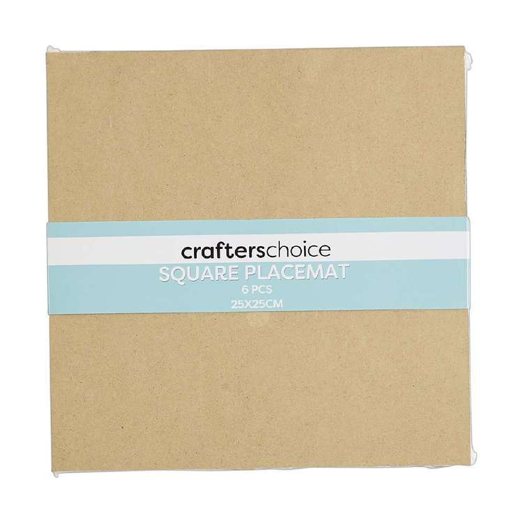Crafters Choice Sqaure MDF Placemat Square 6 Pack