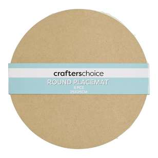 Crafters Choice Round MDF Placemat Square 6 Pack