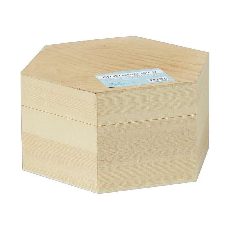 Crafters Choice Timber Hexagon Box