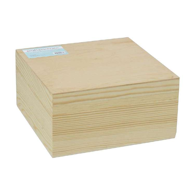 Crafters Choice Timber Square Box