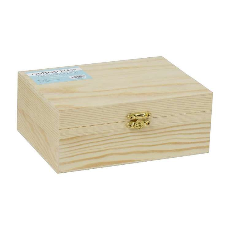 Crafters Choice Timber Box With Hinge