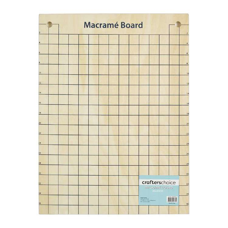 Crafters Choice Timber Macrame Board Natural 30 x 40 cm