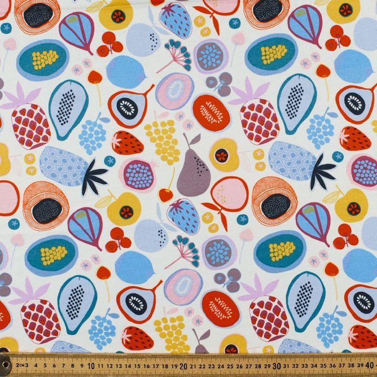 Jocelyn Proust Fruit Bowl Printed 112 cm Organic Cotton Jersey Fabric