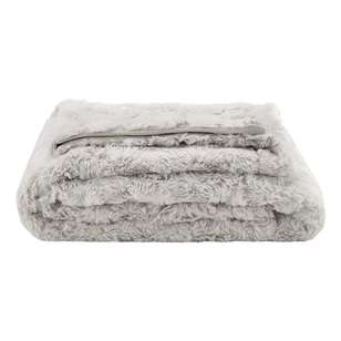 Bouclair Fall Blush Faux Fur Throw
