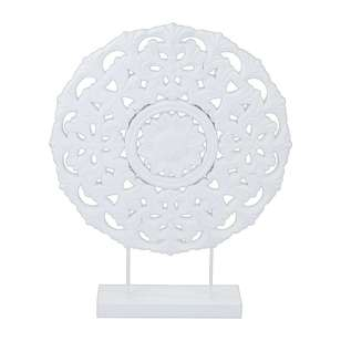 Ombre Home Mediterranean Summer Decorative Etched Circle Ornament