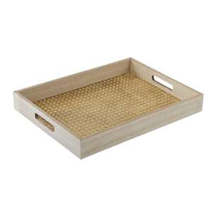 Ombre Home Mediterranean Summer Rattan Tray