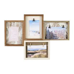 Ombre Home Mediterranean Summer 4 Photo Collage Frame