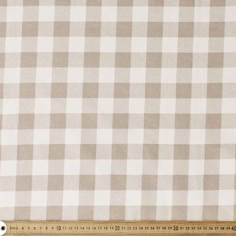 Gingham Thermal Curtain Fabric
