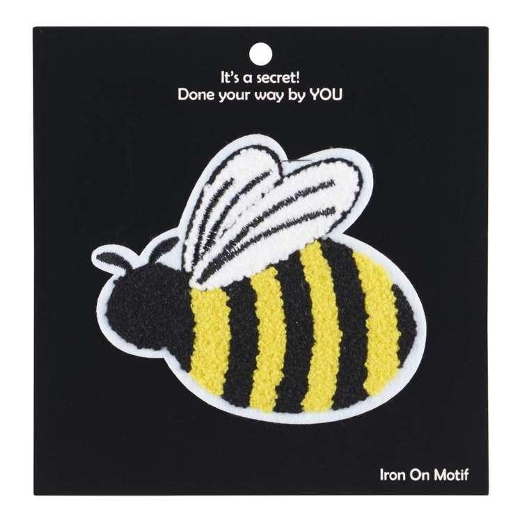 Chenille Bee Iron On Motif