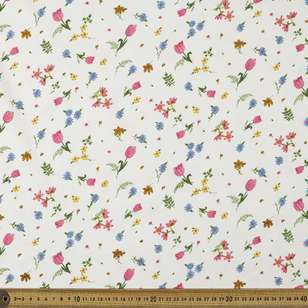 Tulips Printed Organic Cotton Jersey Fabric