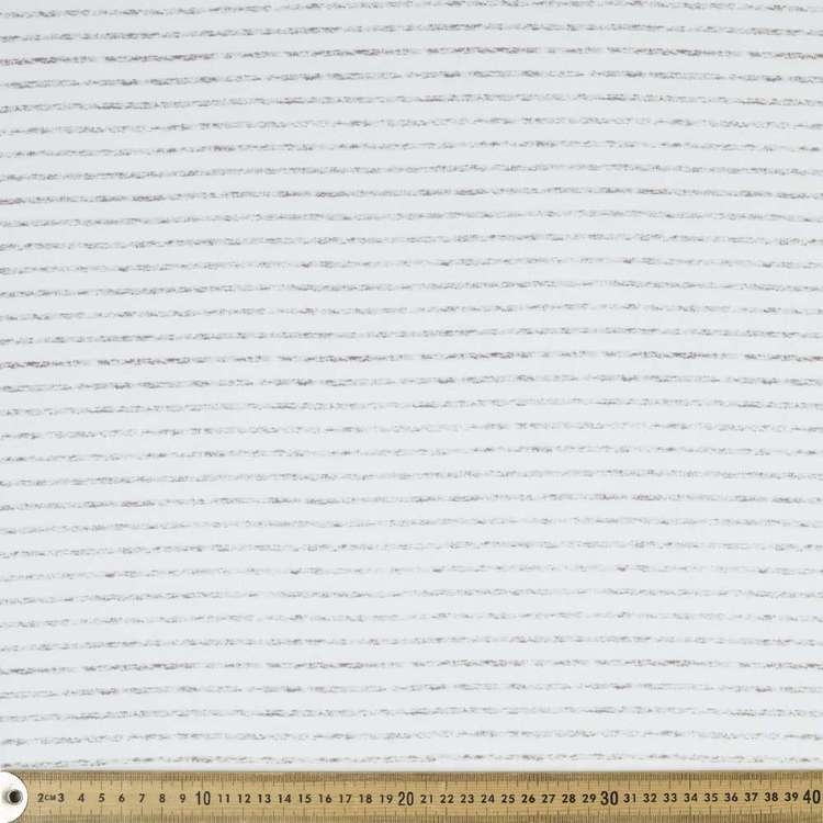 Stripe Printed Organic Cotton Jersey Fabric