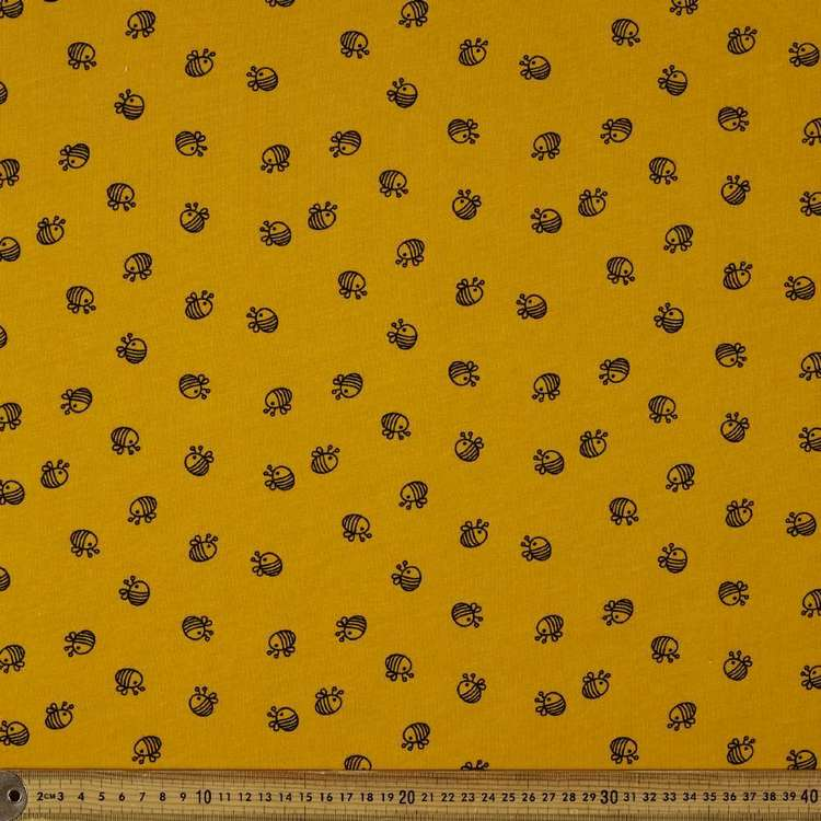 Bumble Bee Printed Organic Cotton Jersey Fabric