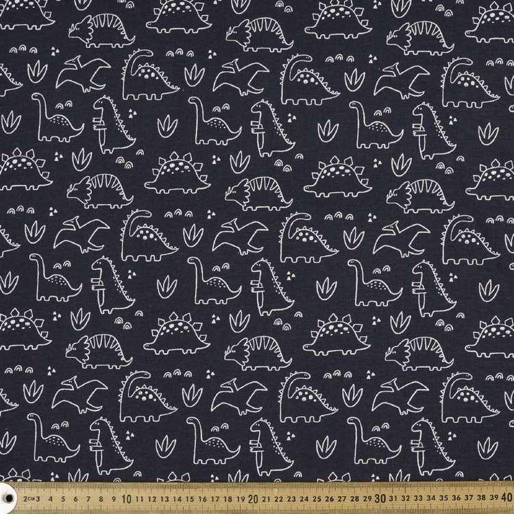 Dinosaurs Printed Organic Cotton Jersey Fabric