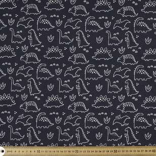 Dinosaurs Printed Organic Cotton Jersey Fabric