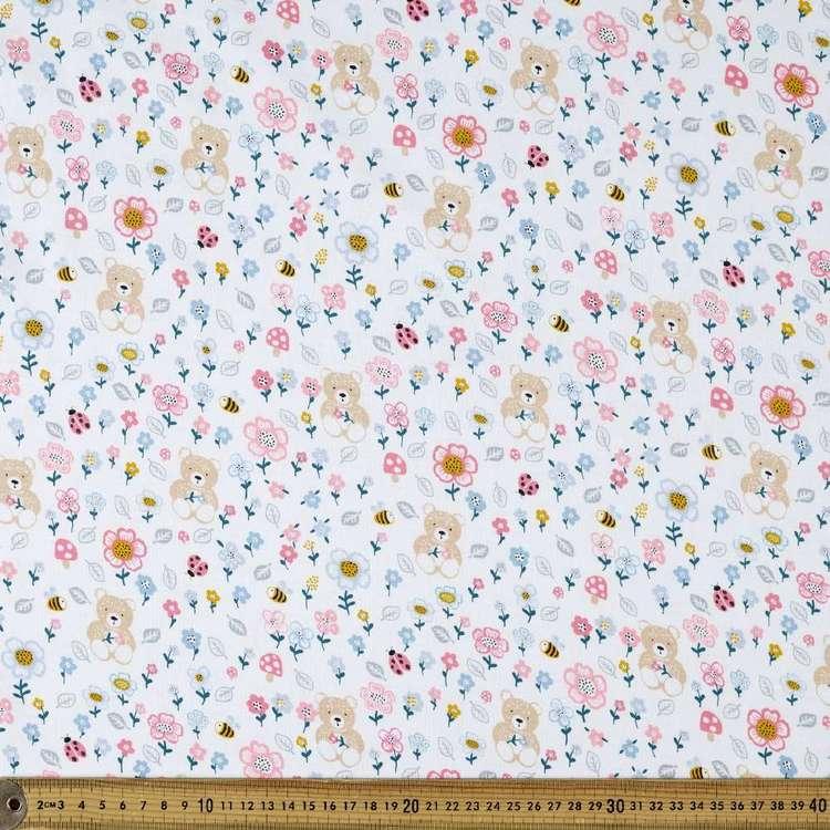 Bear Meadow Printed Organic Cotton Jersey Fabric