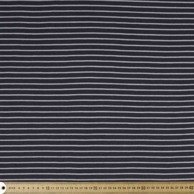Stripe #2 Printed Organic Cotton Jersey Fabric