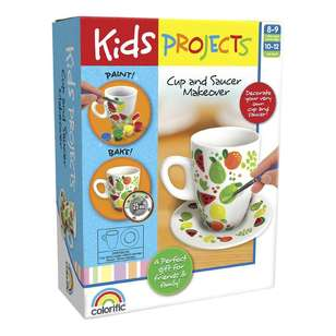 Kids Projects Cup & Saucer Makeover Kit
