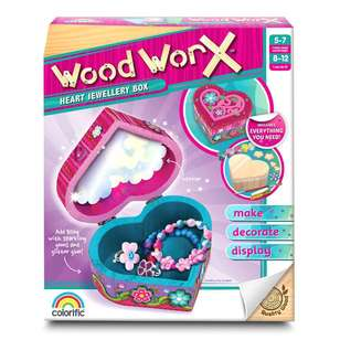 Wood Worx Heart Jewellery Box Kit