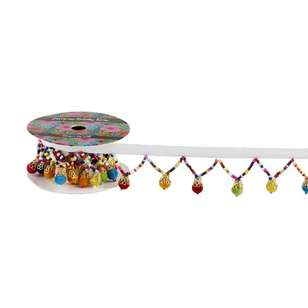 European Holiday Beaded Garland Trim
